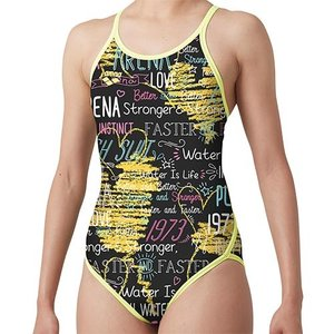 56c9af17f12 アリーナ(arena) レディース 競泳水着 スーパーフライバック ブラック イエロー SAR-9115W BKYL 練習用 女性用競泳水着  トレーニング 水着 スイムウェア