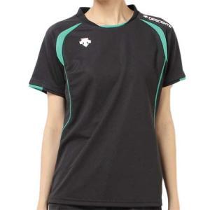 デサント(DESCENTE) 半袖ゲームシャツ DSS-5421W BEG レディース ママさん バレーボール ウェア ユニフォーム|esports