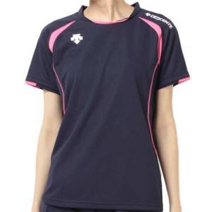 デサント(DESCENTE) 半袖ゲームシャツ DSS-5421W NVY レディース ママさん バレーボール ウェア ユニフォーム|esports
