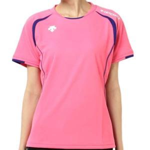 デサント(DESCENTE) 半袖ゲームシャツ DSS-5421W PPK レディース ママさん バレーボール ウェア ユニフォーム|esports