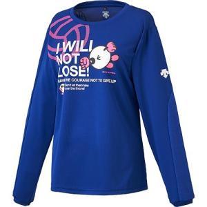 デサント(DESCENTE) バボちゃん長袖プラクティスシャツ ロイヤル/Pピンク DVA-5770WL ROY バレーボール ウェア レディース Tシャツ プラシャツ|esports
