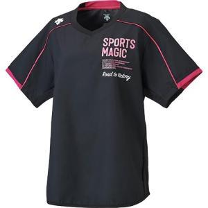 デサント(DESCENTE) 半袖プラクティスピステ ブラック/マゼンタ DVB-3762W BMZ バレーボール ウェア レディース トレーニングウェア|esports
