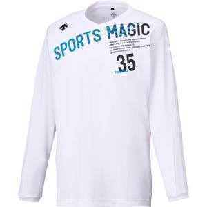 デサント(DESCENTE) 長袖プラクティスシャツ DVB-5753L WHT ホワイト バレーボール ウェア メンズ・レディースTシャツ プラシャツ|esports