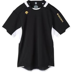 デサント(DESCENTE) 半袖 プラクティスシャツ BLK/ブラック×ホワイト DVB-5721 バレーボール メンズ レディース プラシャツ トレーニングウェア esports