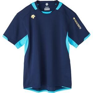 デサント(DESCENTE) 半袖 プラクティスシャツ NVY/ネイビー×Pブルー DVB-5721 バレーボール メンズ レディース プラシャツ トレーニングウェア esports