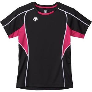 デサント(DESCENTE) 半袖 プラクティスシャツ BMZ/ブラック×マゼンダ×ホワイト DVB-5724W バレーボール メンズ レディース プラシャツ トレーニングウェア|esports