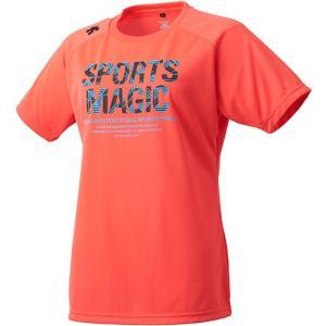 デサント(DESCENTE) 半袖プラクティスシャツ Fレッド×ブラック DVWLJA52 FRED レディース バレーボール Tシャツ プラシャツ スポーツウェア|esports