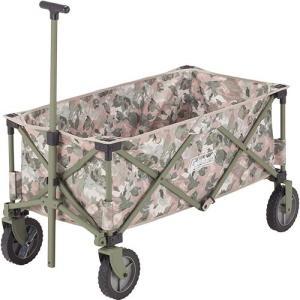 多くの荷物を楽に運べる、簡単収束型ワゴン。■大型タイヤでスムーズ楽々移動■ストッパー付きタイヤでさら...