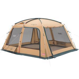 たてやすくドームテントとの連結にも最適な安心タフコンセプトスクリーンタープ。◆強風でもびくともしない...