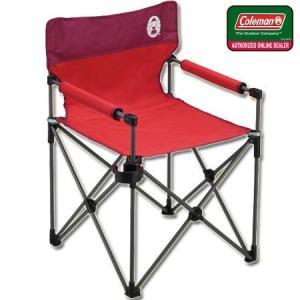 コールマン(Coleman) カップホルダー付きスリムチェア(レッド) 2000010513 キャンプ アウトドア バーベキュー 椅子 運動会|esports