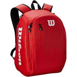 ウイルソン(Wilson) テニスバッグ TOUR BACKPACK RD レッド WRZ847996 ラケットバッグ バックパック 2本用 部活 試合 遠征 バドミントン