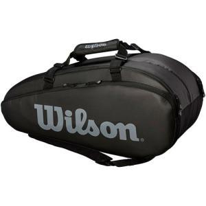 ウイルソン(Wilson) テニスバッグ TOUR 2 COMP BKGY LARGE ブラック・グレー WRZ849309 ラケットバッグ バックパック 9本用 部活 遠征 バドミントン