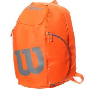 ウイルソン テニス バッグ Wilson バーン バックパック オレンジ/グレー WRZ849796 BURN ラケットバッグ テニスバッグ リュックサック デイパック 鞄 ウィルソン