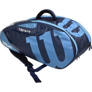 ウイルソン(Wilson) テニス バッグ TEAM JP 6 PACK NYBL ネイビー/ブルー WRZ643806 ラケットバッグ バックパック 6本用 部活 遠征 ウィルソン