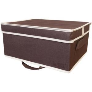 ・クローゼットの上棚に置いて使える収納ボックス・シーズンオフの衣類やアルバム等の収納に最適・収納物が...