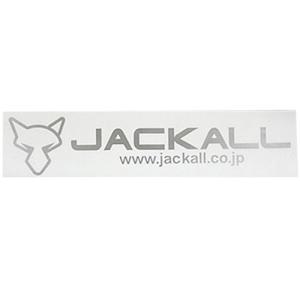 7eb18b639b5d0 ジャッカル(JACKAL) 釣り カッティングステッカー タイプ3 M シルバー 066814 シール ロゴ フィッシング アクセサリ