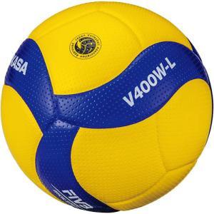 ミカサ(MIKASA) バレーボール 4号 小学校試合球 軽量球 黄/青 V400W-L 公式 大会 バレー 検定球 4号球 試合球