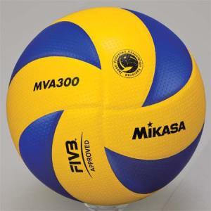 MIKASA(ミカサ) バレーボール試合球 5号 MVA300 黄/青 バレーボール 5号球|esports