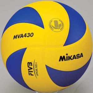 MIKASA(ミカサ) バレーボール練習球 4号 MVA430 黄/青 バレーボール 4号球|esports