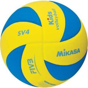 ミカサ(MIKASA) キッズバレー 4号 SV4-YBL 青/黄 バレーボール 4号球|esports