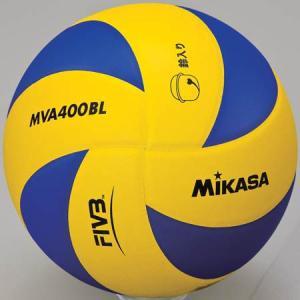 MIKASA(ミカサ) 鈴入りバレーボール 4号 MVA400BL 黄/青 バレーボール 4号球|esports