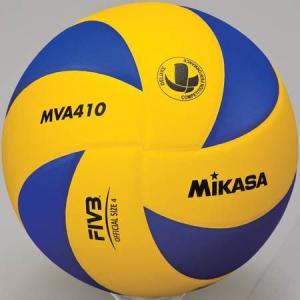 MIKASA(ミカサ) バレーボール練習球 4号 MVA410 黄/青 バレーボール 4号球|esports