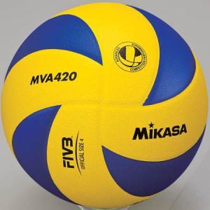 MIKASA(ミカサ) バレーボール練習球 4号 MVA420 黄/青 バレーボール 4号球|esports