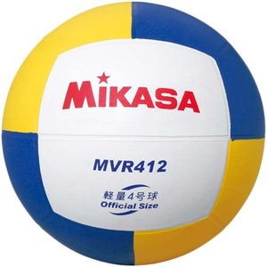 MIKASA(ミカサ) バレーボール練習球 4号 MVR412 白/黄/青 バレーボール 4号球|esports