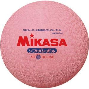 MIKASA(ミカサ) ソフトバレーボール ファミリー・トリムの部試合球 MS-78-DX-P ピンク ソフトボレーボール|esports