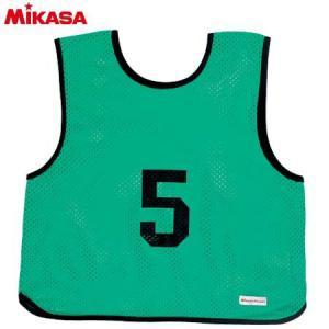 MIKASA(ミカサ) ゲームジャケット ソフトバレー用 レギュラーサイズ (1〜15番) GJSV-G ビブス ゲームベスト 試合 練習用品|esports