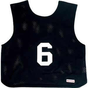 MIKASA(ミカサ) ゲームジャケット ソフトバレー用 レギュラーサイズ (1〜15番) GJSV-BK ビブス ゲームベスト 試合 練習用品|esports