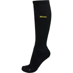 ミカサ(MIKASA) ロングソックス 24-26cm 黒/黄MIKASA SKL24-BK バレーボール 靴下 抗菌防臭 吸汗 速乾 メンズ|esports