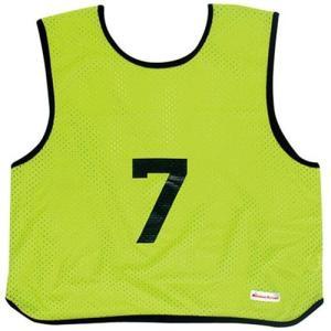 ミカサ(MIKASA) ゲームジャケット ソフトバレー 10枚組 蛍光グリーン GJSV10-KG ビブス ゲームベスト 試合 練習用品|esports