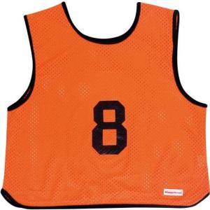 ミカサ(MIKASA) ゲームジャケット ソフトバレー 10枚組 蛍光オレンジ GJSV10-O ビブス ゲームベスト 試合 練習用品|esports