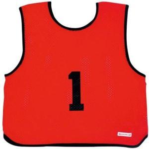 ミカサ(MIKASA) ゲームジャケット ソフトバレー 10枚組 レッド GJSV10-R ビブス ゲームベスト 試合 練習用品|esports