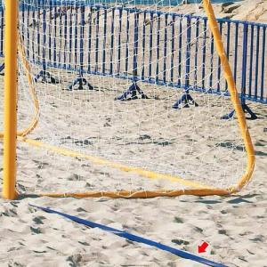 三和体育(SANWATAIKU) ビーチサッカーラインテープ 青 S-0126 砂浜 コート