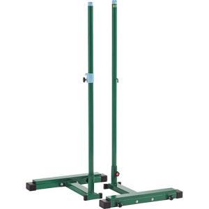 三和体育(SANWATAIKU) バドミントン 支柱 移動式 1組 S-0453 体育用具 バドミントン ポスト 支柱 設備 備品|esports