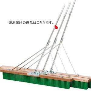 三和体育(SANWATAIKU) コートブラシ ナイロン NAタイプ 補強入 フック付き 150cm S-2398 設備 用具 グランド用品 整備具