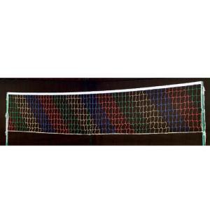 三和体育(SANWATAIKU) ソフトバレー用ストライプネット (赤・青・黄・緑の4色) S-9417 体育 ソフトバレーネット ストライプネット|esports