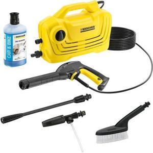 標準装備の1ジェットノズルはいろいろな場所の洗浄に便利です。また自吸が可能なので、水道がない場所でも...