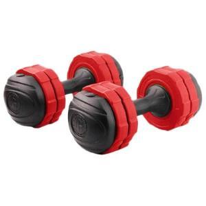 アーミーダンベル 7kg 2個セット レッド LEDB-07RD*2 無臭素材 7kg 5kg 3kg 調節可能 筋トレ ウエイトトレーニング