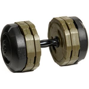 アーミーダンベル 20kg 単品 アーミーグリーン LEDB-20G 筋トレ ベンチプレス ウエイトトレーニング 15kg 10kg