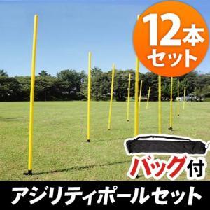 リーディングエッジ アジリティポール 12本セット スラロームポール LE-AP12set 俊敏性トレーニング サッカー 野球 ラグビー 屋外部活動