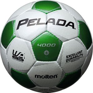 モルテン(molten) ペレーダ40004号 F4P4000-WG シャンパンシルバー×メタリックグリーン サッカーボール JFA検定球 esports