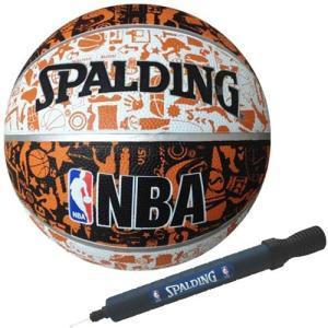 【セット内容】・スポルディンング(SPALDING) バスケットボール グラフィティ ホワイト×ブラ...