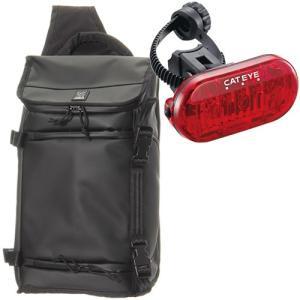 クローム(CHROME) ターポリン ニコ メッセンジャー NIKO カメラバッグ BG186BKBK 黒 ブラック + 自転車用 LEDテールライト 赤色灯 通勤通学 ショルダー 鞄|esports