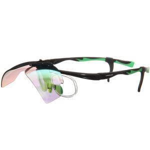 ダンロップ(DUNLOP) 無料度付きサングラス はね上げタイプ (交換レンズ 計3枚付き) ブラック DU-019 アウトドア スポーツ フィッシング ゴルフ メガネ esports