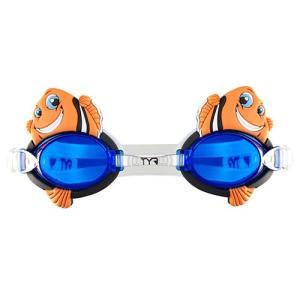 ティア(TYR) ジュニアキャラクタースイムゴーグルフィッシュ LGQHFSH 810 OR スイムゴーグル 水泳帽 トライアスロン|esports