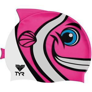 ティア(TYR) ジュニアシリコンキャップ フィッシュ LCSHFISH 693 F.PK スイムキャップ 水泳帽 トライアスロン|esports