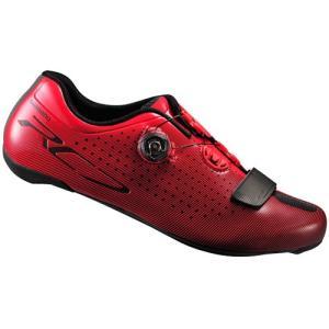 シマノ(SHIMANO) レッド SH-RC700RE ワイドタイプ ビンディングシューズ ロードバイク メンズ 41-43サイズ 自転車 サイクル SPD-SL レース 靴|esports